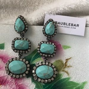 Baublebar Turquoise Gunmetal Earrings✨